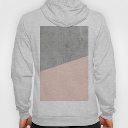 Concrete and Pale Dogwood Color Hoody