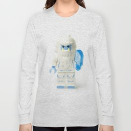 White Yeti Minifig eating an icecream Long Sleeve T-shirt