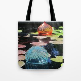 Lily Pond and Glass Floaters Tote Bag
