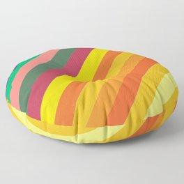 Retro Rainbow Lines Floor Pillow