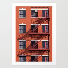 'Just Another New York Storey' - Architectural Study Art Print