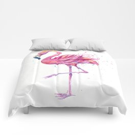 Fancy Pink Flamingo Comforters