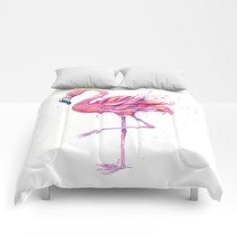 Fancy Pink Flamingo Comforters
