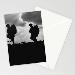Soldier Silhouettes - Battle of Broodseinde Stationery Cards