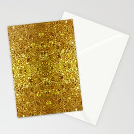 Deep gold glass mosaic Stationery Cards