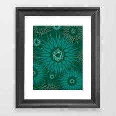 Dark Spiky Burst Framed Art Print