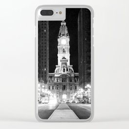 Philly by Night Clear iPhone Case