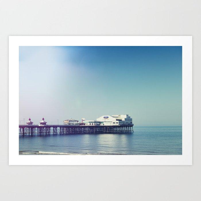 Summer pier Art Print