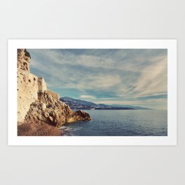 A Monaco View of the French Riviera Art Print