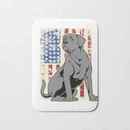 American Flag Mastiff Gift Cane Corso Mastiff Print Bath Mat