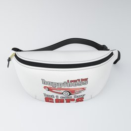 Car Lover Can't Buy Happiness Can Buy Cars Car Enthusiast Mechanic Fanny Pack
