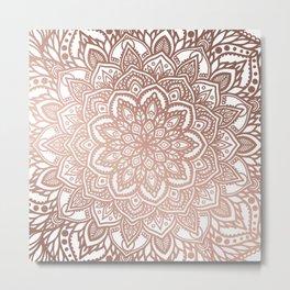 Rosegold Multi Mandala Metal Print