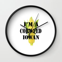 Corn Fed Iowan Wall Clock