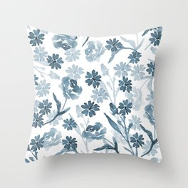 Paint it Blue Throw Pillow