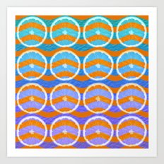 blue citrus Art Print