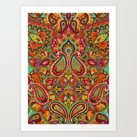 paisley Art Prints featuring Paisley by Aimee St Hill