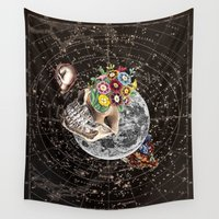 novelty Wall Tapestries featuring Universe Striving for Novelty by Eugenia Loli