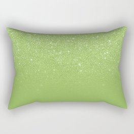 Modern green glitter ombre color block greenery color of the year pattern Rectangular Pillow