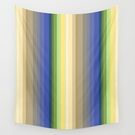 Multi-colored striped pattern . Wall Tapestry