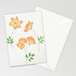 Butterscotch Roses Stationery Cards