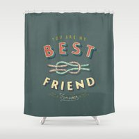 best friend Shower Curtains featuring Best Friend by Seaside Spirit