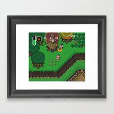 A Link to the Past Framed Art Print