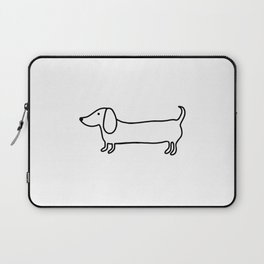 Simple dachshund black drawing Laptop Sleeve