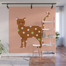 Kusama Kitty Wall Mural