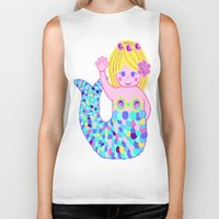 mermaids Biker Tanks featuring Mermaids by SqueakyAngel