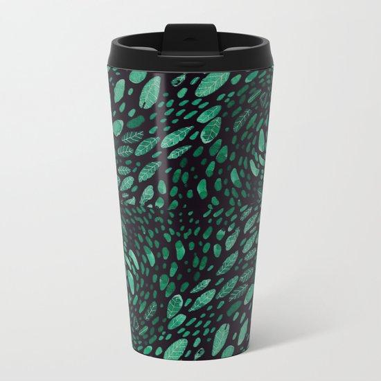 wave leaves Metal Travel Mug