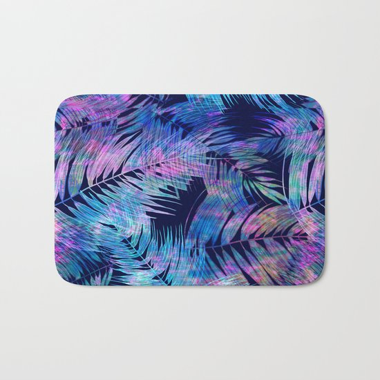 Waikiki Tropic {Blue} Bath Mat