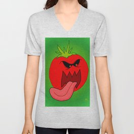 Attack Of The Killer Tomato Unisex V-Neck