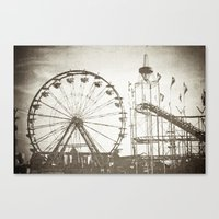 carnival Canvas Prints featuring Carnival by Olivia Joy StClaire