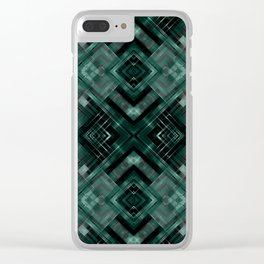 Black and green abstract pattern . Clear iPhone Case