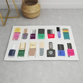 My nail polish collection art print Rug