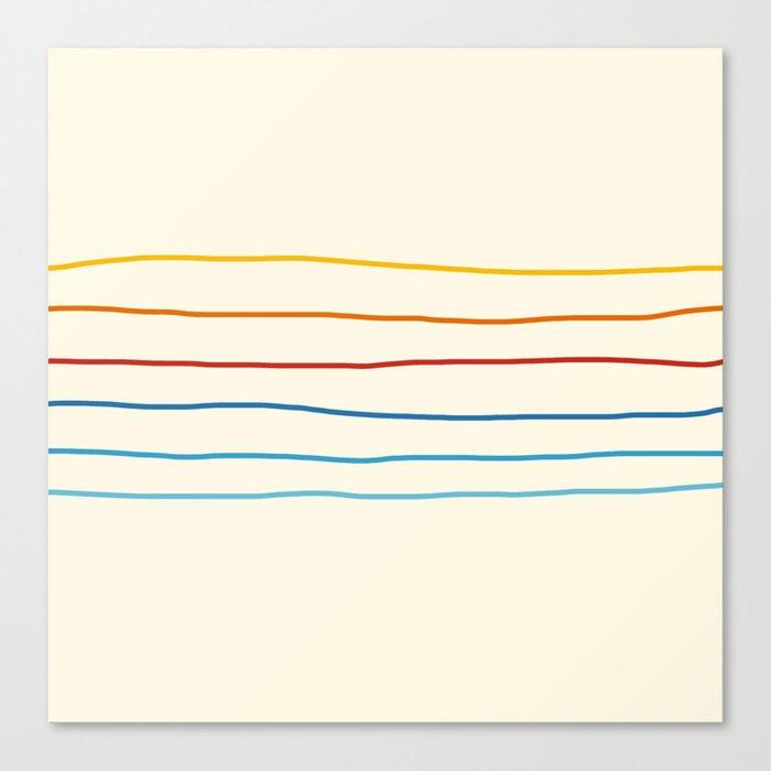Bright Classic Abstract Minimal 70s Rainbow Retro Summer Style Stripes #1 Leinwanddruck