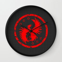 Firehawk Wall Clock
