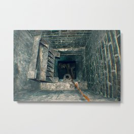 Urbex // Black Abyss // South Wales Metal Print