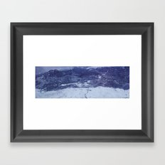 lonely mountain road Framed Art Print