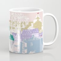 copenhagen Mugs featuring Copenhagen Collage by Tokyo Rose