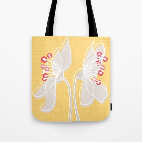 Cherry Blossom: Yellow Tote Bag