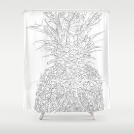 pineapple sophistication Shower Curtain