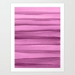Purple Watercolor Lines Art Print