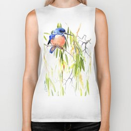KIngfisher and Weeping Willow Biker Tank