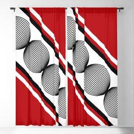 Wavy circles Blackout Curtain