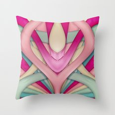 Laminated bubblegum II Throw Pillow