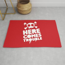 Here comes trouble Rug