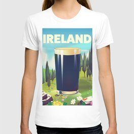 Ireland cartoon travel poster T-shirt