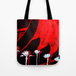 Surf in the City - Black + Red Tote Bag