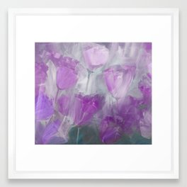 Shades of Lilac Framed Art Print